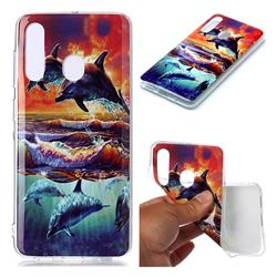 Flying Dolphin Soft TPU Cell Phone Back Cover for Samsung Galaxy A60