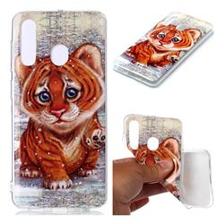 Cute Tiger Baby Soft TPU Cell Phone Back Cover for Samsung Galaxy A60