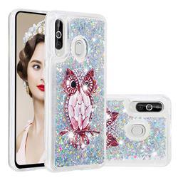 Seashell Owl Dynamic Liquid Glitter Quicksand Soft TPU Case for Samsung Galaxy A60