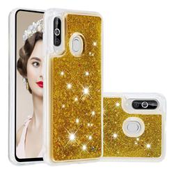 Dynamic Liquid Glitter Quicksand Sequins TPU Phone Case for Samsung Galaxy A60 - Golden
