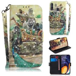 Beast Zoo 3D Painted Leather Wallet Phone Case for Samsung Galaxy A60