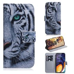White Tiger PU Leather Wallet Case for Samsung Galaxy A60