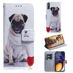 Pug Dog PU Leather Wallet Case for Samsung Galaxy A60
