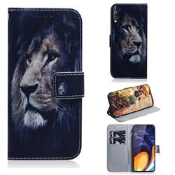 Lion Face PU Leather Wallet Case for Samsung Galaxy A60