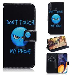 Not Touch My Phone PU Leather Wallet Case for Samsung Galaxy A60