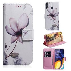 Magnolia Flower PU Leather Wallet Case for Samsung Galaxy A60