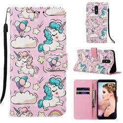 Angel Pony 3D Painted Leather Wallet Case for Samsung Galaxy A60