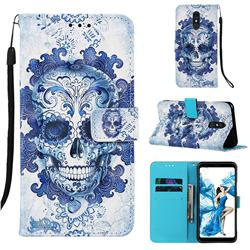 Cloud Kito 3D Painted Leather Wallet Case for Samsung Galaxy A60