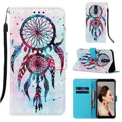 ColorDrops Wind Chimes 3D Painted Leather Wallet Case for Samsung Galaxy A60
