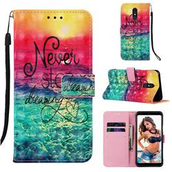 Colorful Dream Catcher 3D Painted Leather Wallet Case for Samsung Galaxy A60