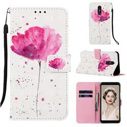 Watercolor 3D Painted Leather Wallet Case for Samsung Galaxy A60