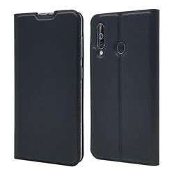 Ultra Slim Card Magnetic Automatic Suction Leather Wallet Case for Samsung Galaxy A60 - Star Grey