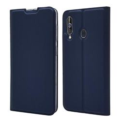 Ultra Slim Card Magnetic Automatic Suction Leather Wallet Case for Samsung Galaxy A60 - Royal Blue