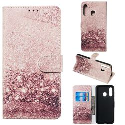Glittering Rose Gold PU Leather Wallet Case for Samsung Galaxy A60