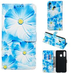 Orchid Flower PU Leather Wallet Case for Samsung Galaxy A60