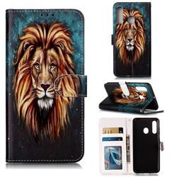 Ice Lion 3D Relief Oil PU Leather Wallet Case for Samsung Galaxy A60