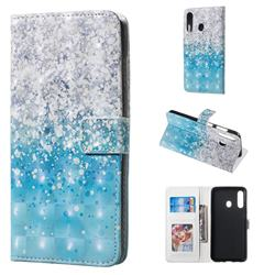 Sea Sand 3D Painted Leather Phone Wallet Case for Samsung Galaxy A60