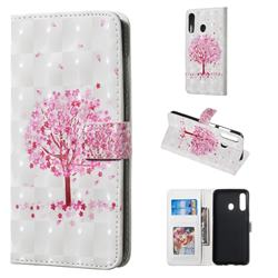 Sakura Flower Tree 3D Painted Leather Phone Wallet Case for Samsung Galaxy A60
