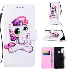Playful Pony Matte Leather Wallet Phone Case for Samsung Galaxy A60