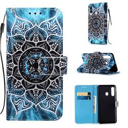 Underwater Mandala Matte Leather Wallet Phone Case for Samsung Galaxy A60