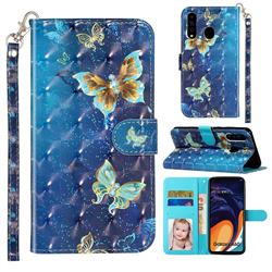Rankine Butterfly 3D Leather Phone Holster Wallet Case for Samsung Galaxy A60