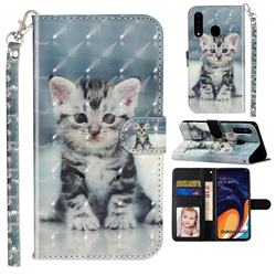 Kitten Cat 3D Leather Phone Holster Wallet Case for Samsung Galaxy A60