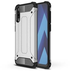 King Kong Armor Premium Shockproof Dual Layer Rugged Hard Cover for Samsung Galaxy A70 - White