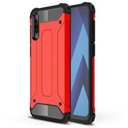 King Kong Armor Premium Shockproof Dual Layer Rugged Hard Cover for Samsung Galaxy A70 - Big Red