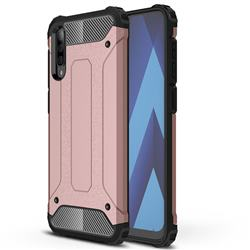 King Kong Armor Premium Shockproof Dual Layer Rugged Hard Cover for Samsung Galaxy A70 - Rose Gold