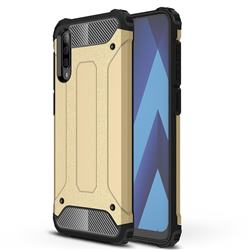 King Kong Armor Premium Shockproof Dual Layer Rugged Hard Cover for Samsung Galaxy A70 - Champagne Gold