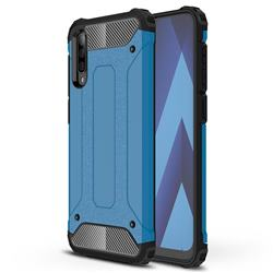 King Kong Armor Premium Shockproof Dual Layer Rugged Hard Cover for Samsung Galaxy A70 - Sky Blue