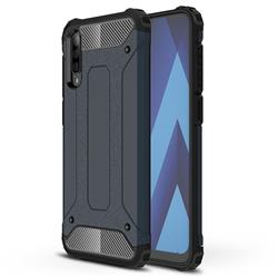King Kong Armor Premium Shockproof Dual Layer Rugged Hard Cover for Samsung Galaxy A70 - Navy