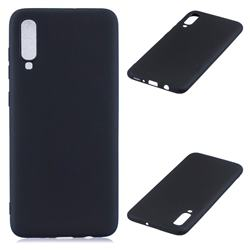 Candy Soft Silicone Protective Phone Case for Samsung Galaxy A70 - Black