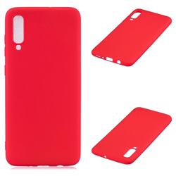 Candy Soft Silicone Protective Phone Case for Samsung Galaxy A70 - Red