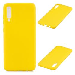 Candy Soft Silicone Protective Phone Case for Samsung Galaxy A70 - Yellow