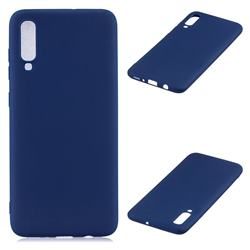 Candy Soft Silicone Protective Phone Case for Samsung Galaxy A70 - Dark Blue