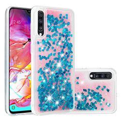 Dynamic Liquid Glitter Quicksand Sequins TPU Phone Case for Samsung Galaxy A70 - Blue