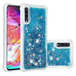 Dynamic Liquid Glitter Sand Quicksand TPU Case for Samsung Galaxy A70 - Blue Love Heart