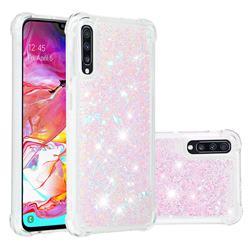 Dynamic Liquid Glitter Sand Quicksand Star TPU Case for Samsung Galaxy A70 - Pink