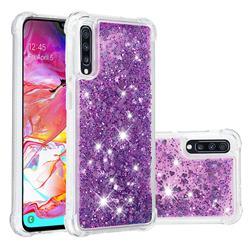Dynamic Liquid Glitter Sand Quicksand Star TPU Case for Samsung Galaxy A70 - Purple