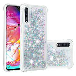 Dynamic Liquid Glitter Sand Quicksand Star TPU Case for Samsung Galaxy A70 - Silver