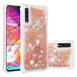 Dynamic Liquid Glitter Sand Quicksand Star TPU Case for Samsung Galaxy A70 - Diamond Gold