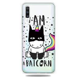 Batman Clear Varnish Soft Phone Back Cover for Samsung Galaxy A70