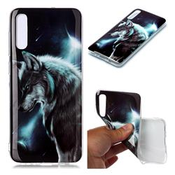 Fierce Wolf Soft TPU Cell Phone Back Cover for Samsung Galaxy A70