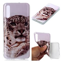 White Leopard Soft TPU Cell Phone Back Cover for Samsung Galaxy A70