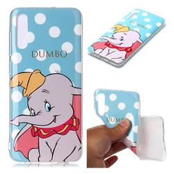 Dumbo Elephant Soft TPU Cell Phone Back Cover for Samsung Galaxy A70
