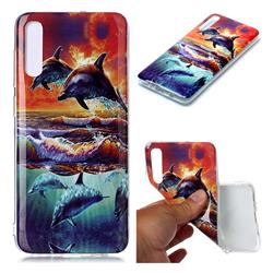 Flying Dolphin Soft TPU Cell Phone Back Cover for Samsung Galaxy A70