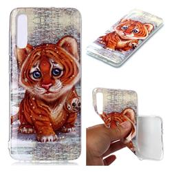 Cute Tiger Baby Soft TPU Cell Phone Back Cover for Samsung Galaxy A70