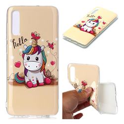 Hello Unicorn Soft TPU Cell Phone Back Cover for Samsung Galaxy A70