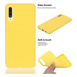 Soft Matte Silicone Phone Cover for Samsung Galaxy A70 - Yellow